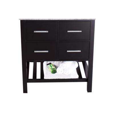 Bosconi 29 in. Main Cabinet Only in Black with Matte/Polished Chrome Hardware