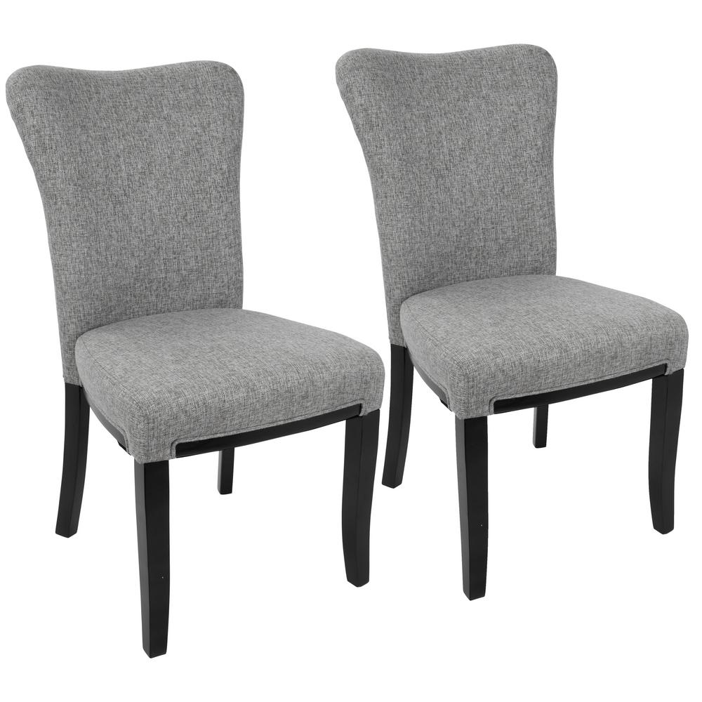 Lumisource Olivia Espresso And Grey Dining Chair (Set Of 2)