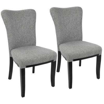 Olivia Espresso and Grey Dining Chair (Set of 2)