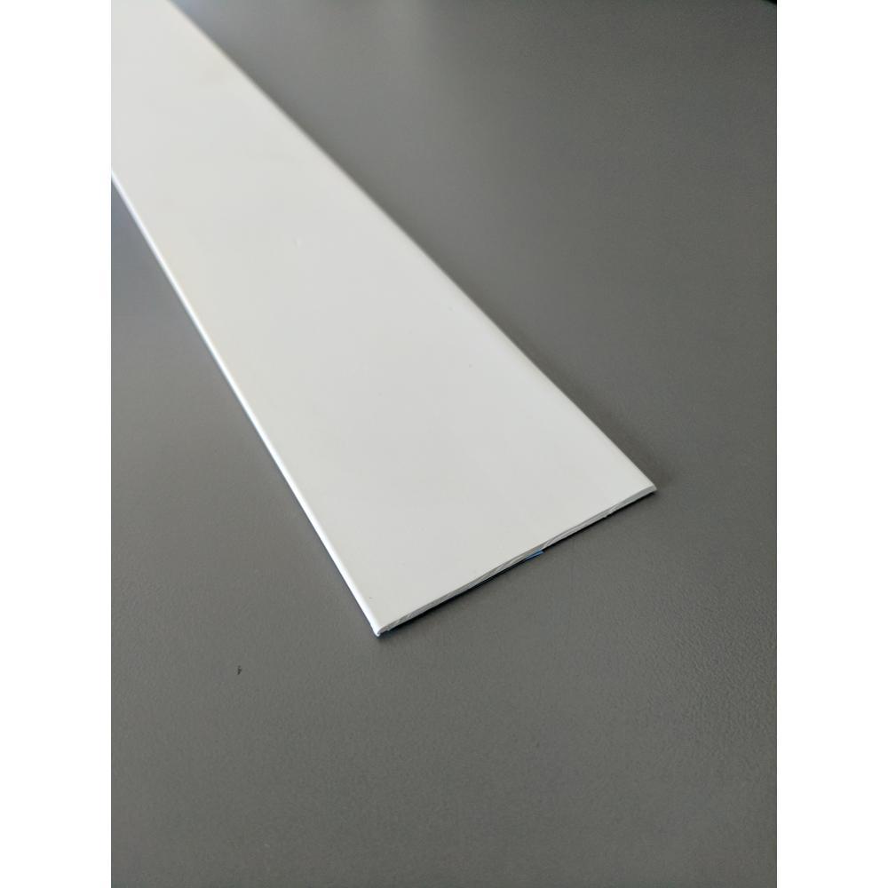 Ply Gem 400 Series Vinyl Flat Trim 1 75 in  x 144 in  in White