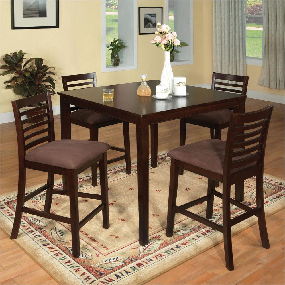 Venetian Worldwide Eaton I 5 Piece Espresso Bar Table Set