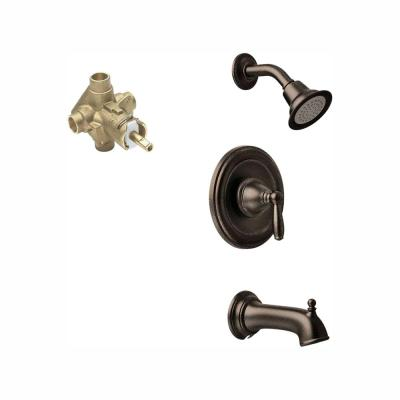 Brantford Single-Handle 1-Spray Posi-Temp Tub and Shower Faucet Trim Kit in Oil Rubbed Bronze (Valve Included)
