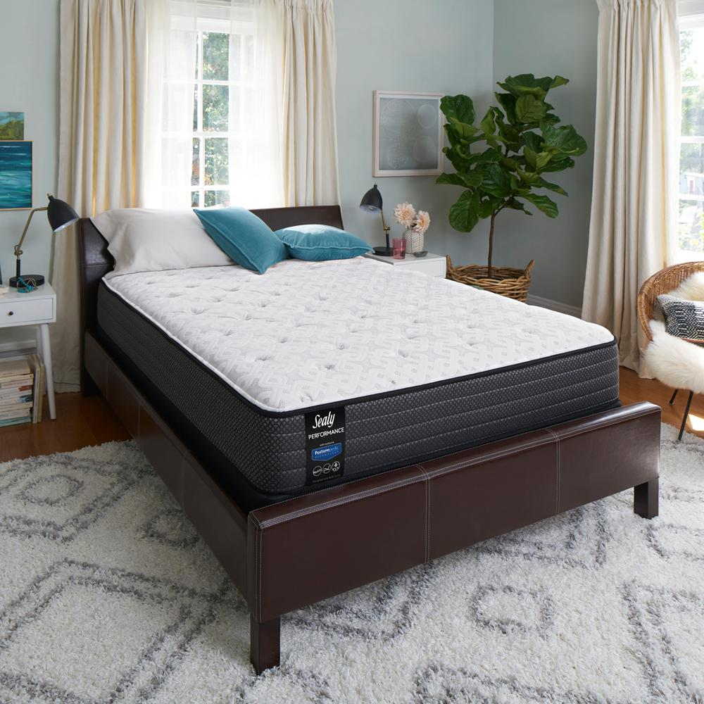 Lovely Sealy Response Performance 12 In. Queen Plush Tight Top Mattress Set With 9  In.