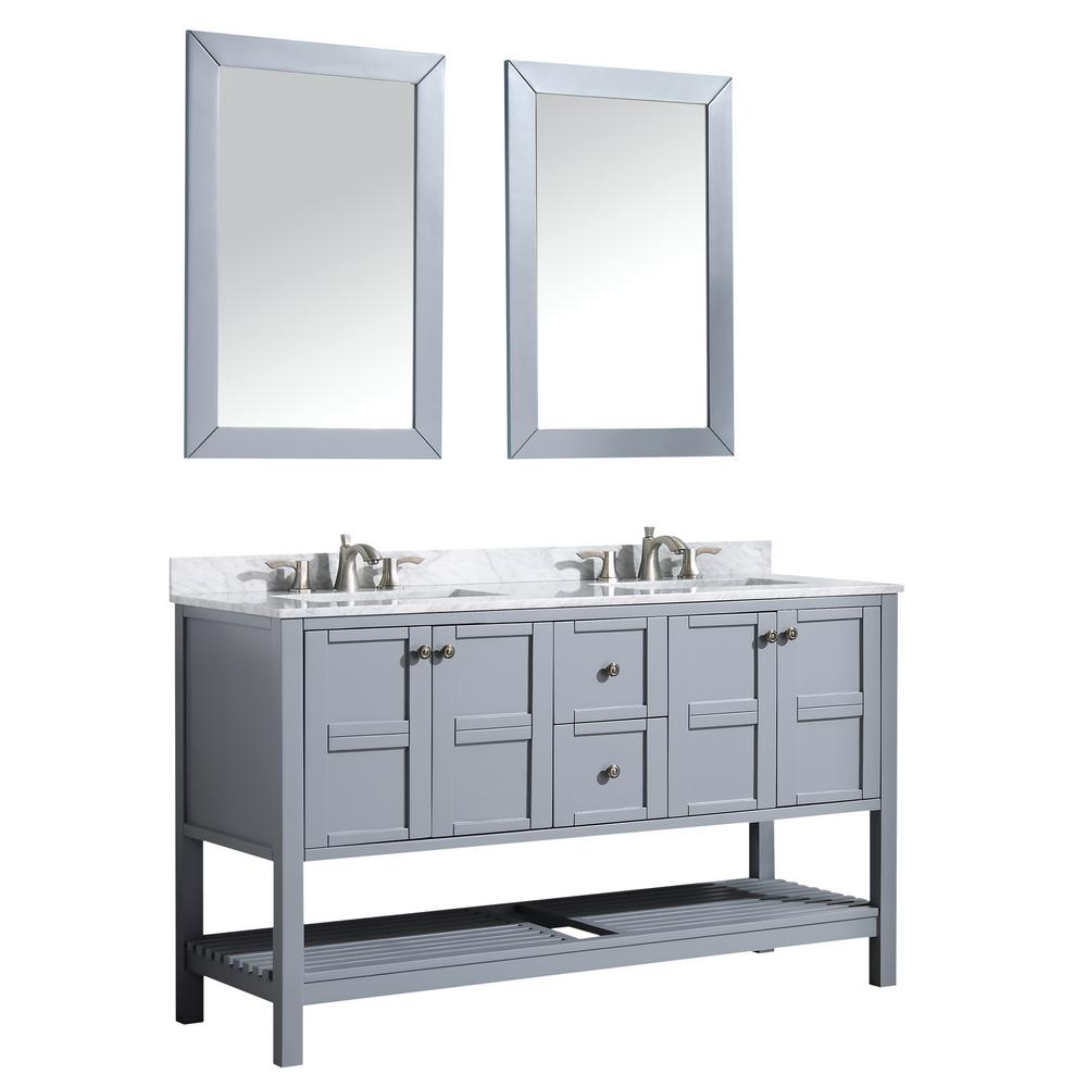 Montaigne 60 in. W x 35.75 in. H Bath Vanity in