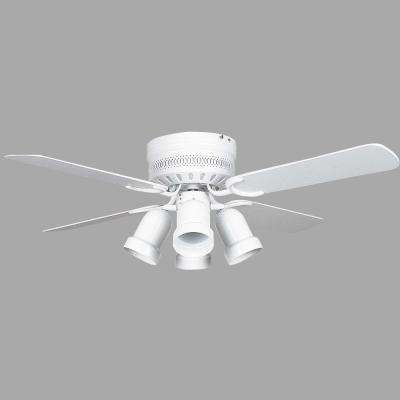 Palilly 42 in. White Ceiling Fan with Light Kit and 4 Blades