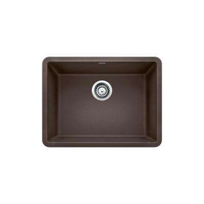 PRECIS Undermount Granite Composite 24 in. Single Bowl Kitchen Sink in Cafe Brown