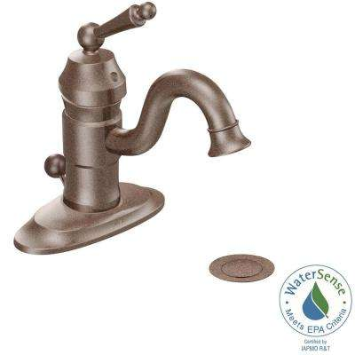 Waterhill Single Hole 1-Handle Low-Arc Lavatory Bathroom Faucet in Oil Rubbed Bronze