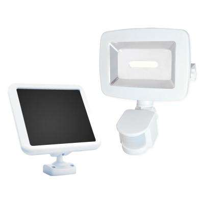 Solar 180-Degree White Motion Activated Outdoor COB Integrated LED Area Light