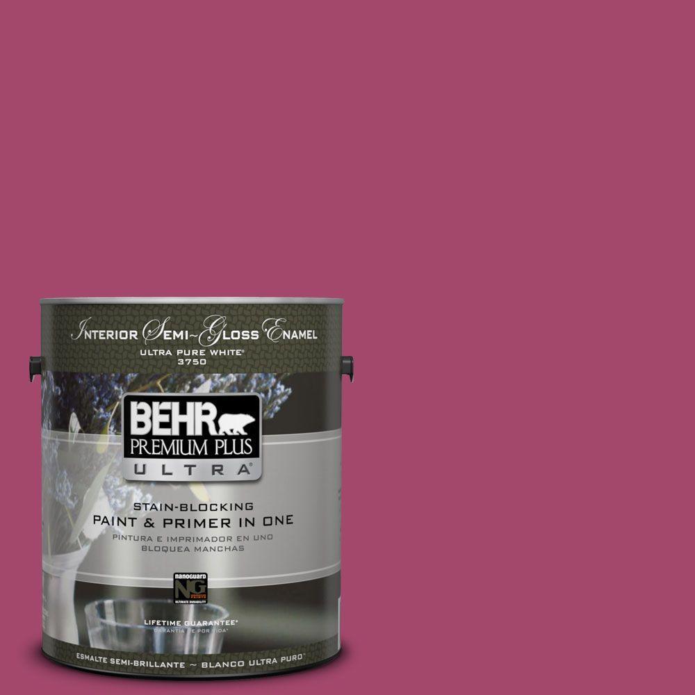 1-gal. #HDC-SM14-1 Fuschia Flair Semi-Gloss Enamel Interior Paint