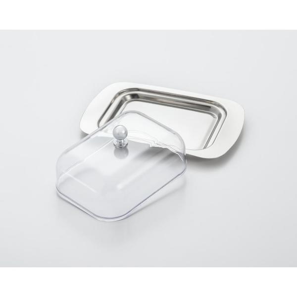 ExcelSteel 4.75 in. x 7.38 in. Stainless Steel Butter Dish with