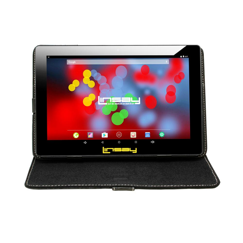 LINSAY 10.1 in. 1280x800 IPS 2GB RAM 16GB Android 9.0 Pie Tablet with Black Case was $324.99 now $79.99 (75.0% off)