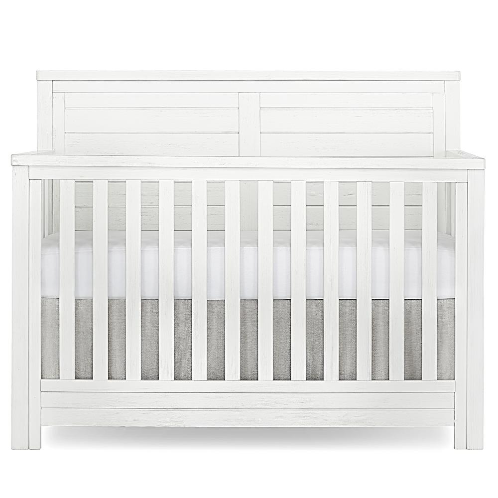Belmar Weathered White Flat 5 in 1 Convertible Crib