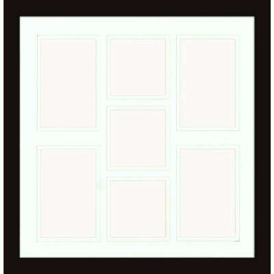 7-Opening Holds (4) 4 in. x 6 in. and (3) 4 in. x 4 in. Matted Black Photo Collage Frame (Set of 2)