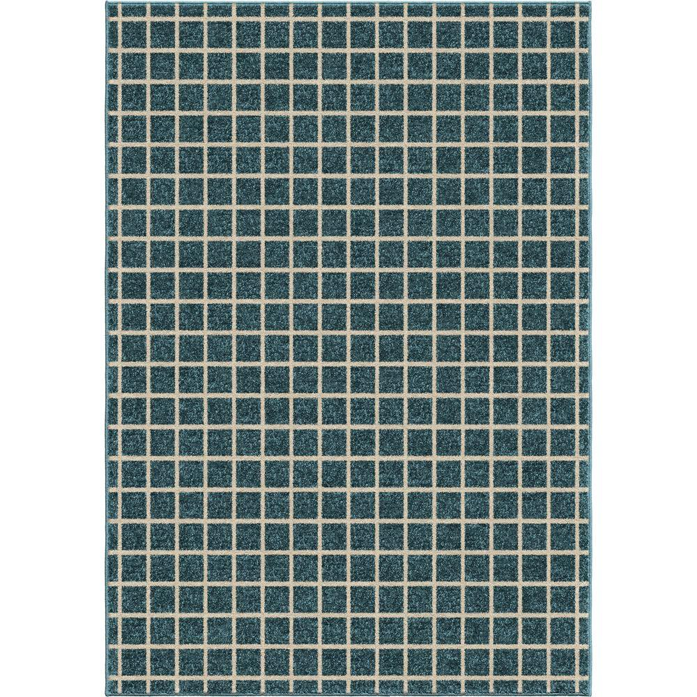 Orian See-Saw Blue 5 ft. 2 in. x 7 ft. 6 in. Indoor Area Rug