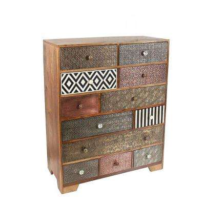 Havana Multi Drawer Mango Wood Sideboard with Bone and Iron Inlays