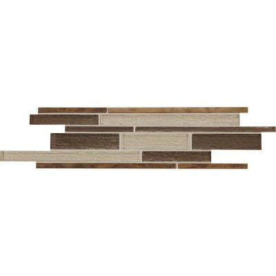Stone Decor Mythical Metal 3 in. x 16 in. Glass and Metal Decorative Accent Tile (0.28 sq. ft. / piece)