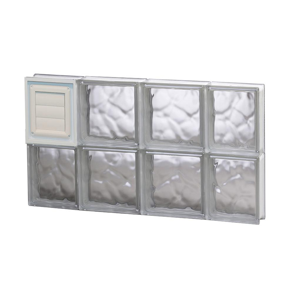 Clearly secure 27 in x 15 5 in x in dryer vent for Pre assembled glass block windows