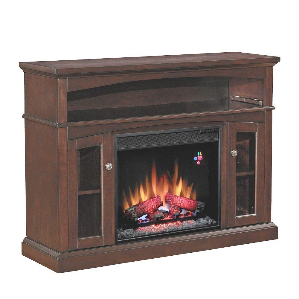 Chimney Free 48 in. Media Console Electric Fireplace in Espresso-DISCONTINUED