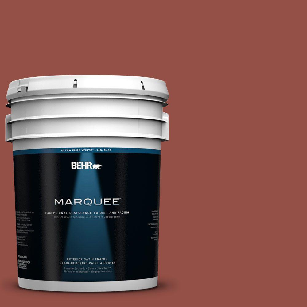 BEHR MARQUEE 5-gal. #UL120-21 Powdered Brick Satin Enamel Exterior Paint