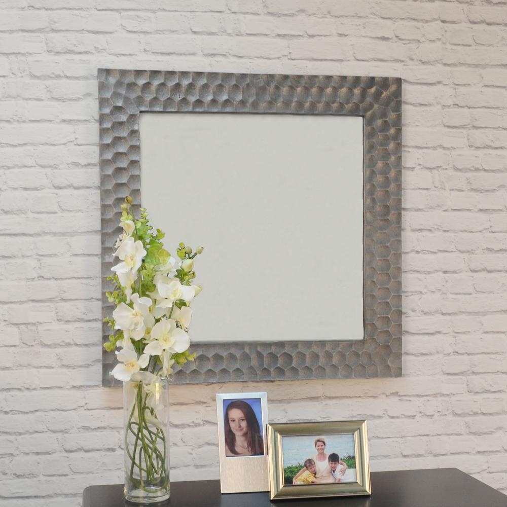 cfb9687849d Marley Square Antique Pewter Decorative Wall Mirror-M-1284 APWT ...
