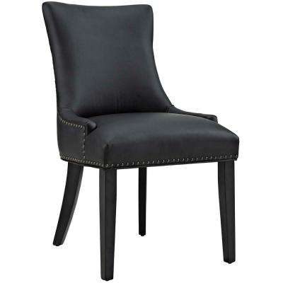 Marquis Black Faux Leather Dining Chair