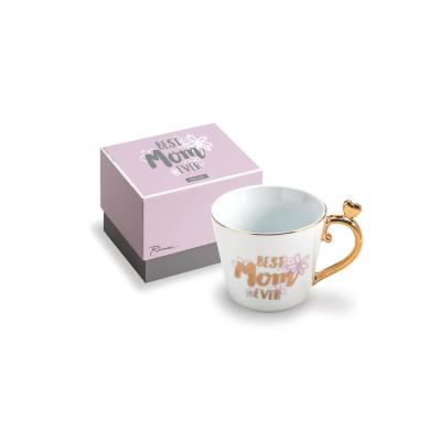 Love You More 12 oz. White and Gold Best Mom Ever Coffee Mug