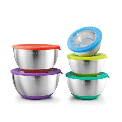10-Piece Mixing Bowls with Clear Lids