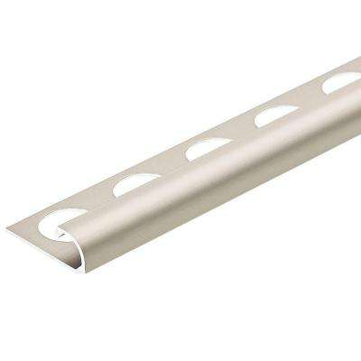 Satin Nickel Anodized 3/8 in. x 98-1/2 in. Aluminum R-Round Bullnose Tile Edging Trim