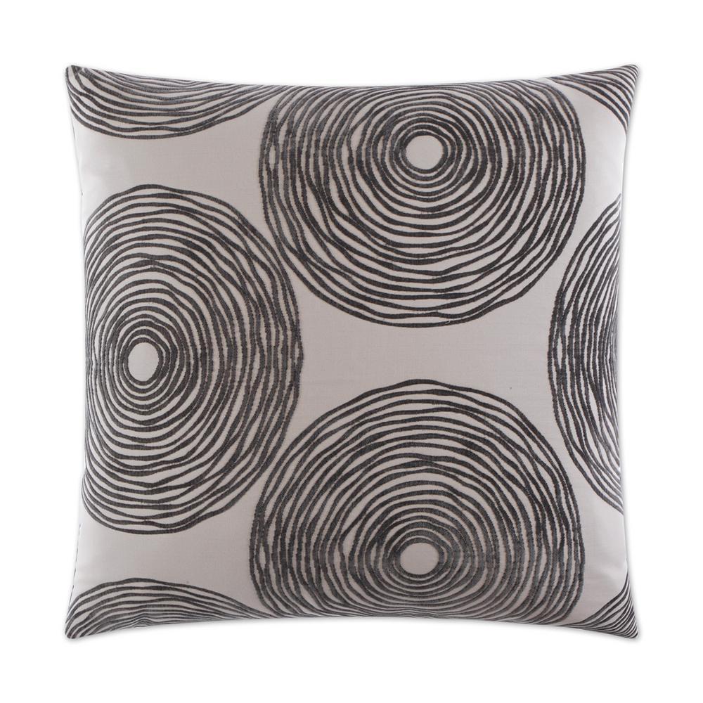 Gaucho Charcoal Geometric Down 24 in. x 24 in. Throw Pillow