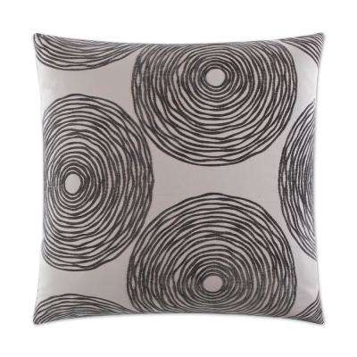 Gaucho Charcoal Feather Down 24 in. x 24 in. Standard Decorative Throw Pillow