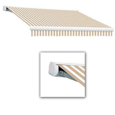 10 ft. Key West Manual Retractable Awning (96 in. Projection) in Linen/White