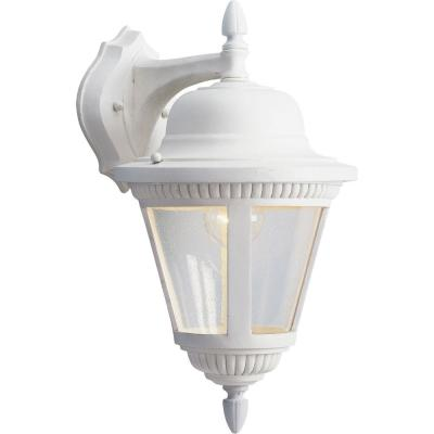 Westport Collection White 16 in. Outdoor Wall Lantern Sconce