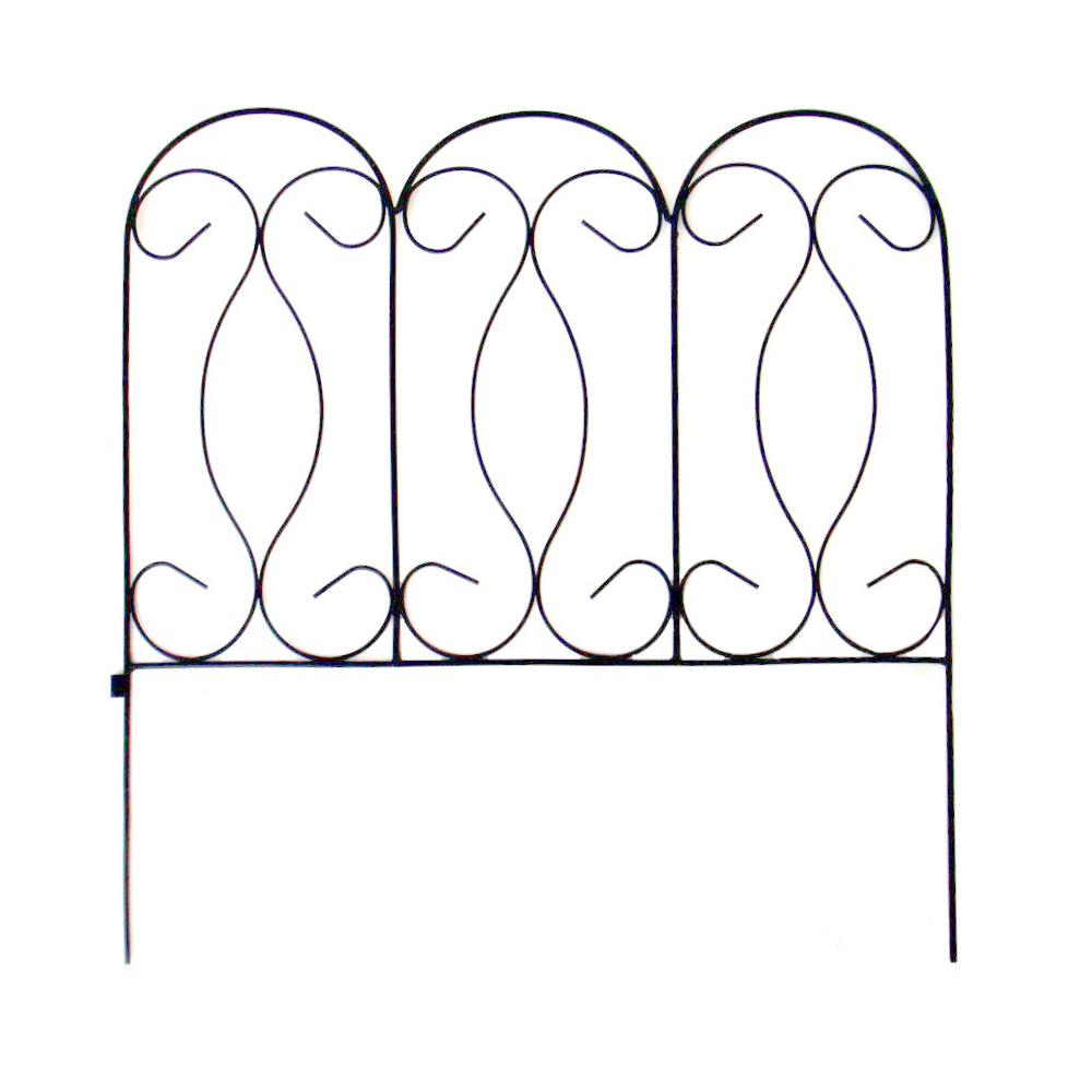 Yorkshire Wrought Iron Garden Fence