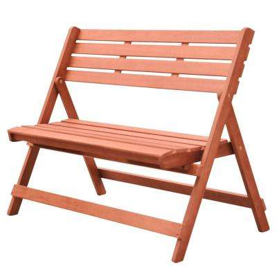Malibu 2-Person Wood Outdoor Bench