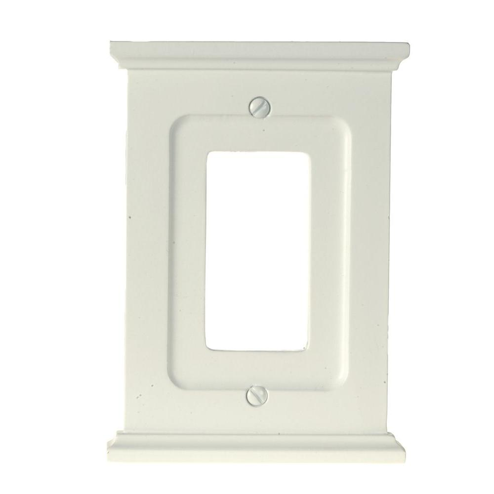 Mantel 1 Decora Wall Plate - White