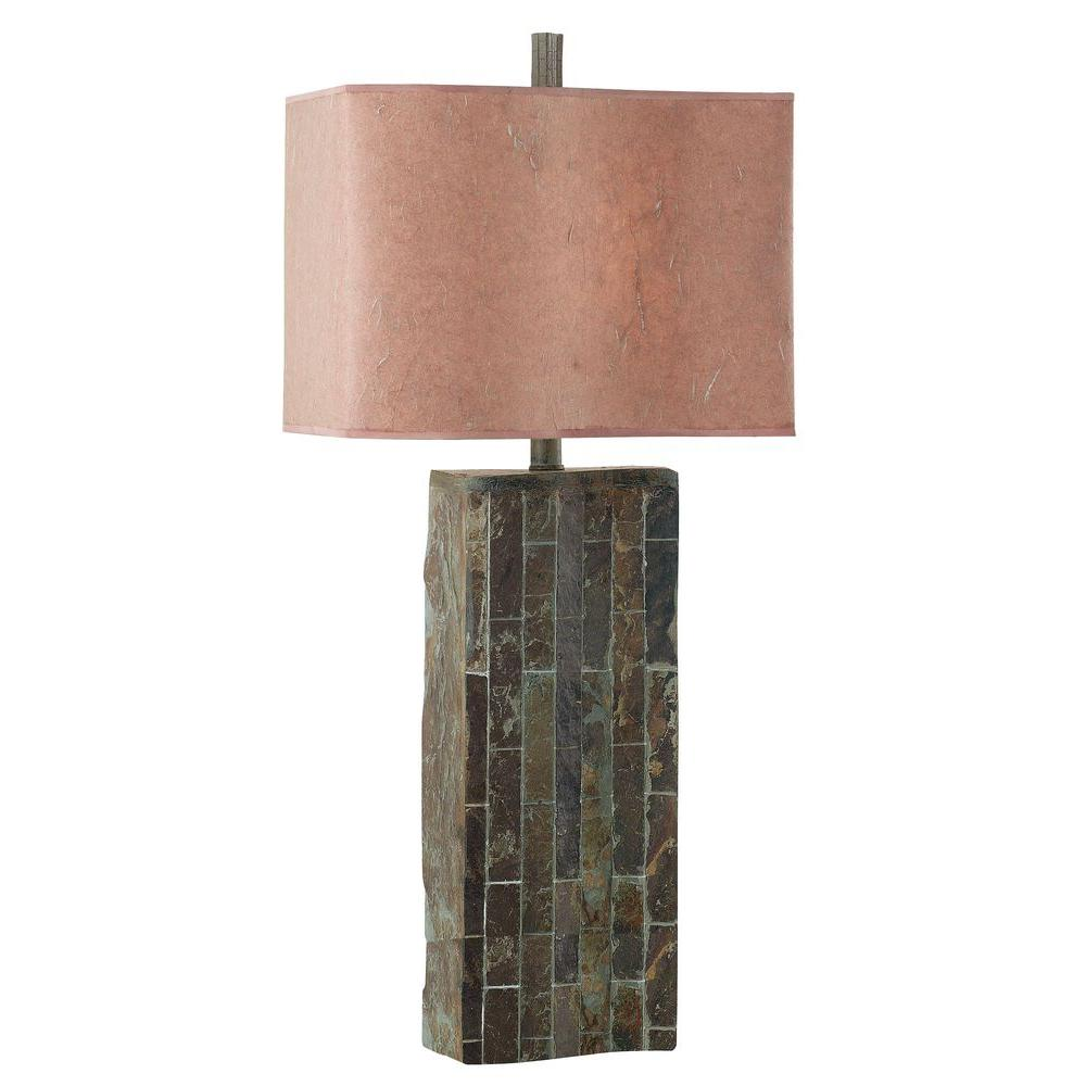 Kenroy Home Ripple 32 in. Natural Slate Table Lamp-30894SL - The ...