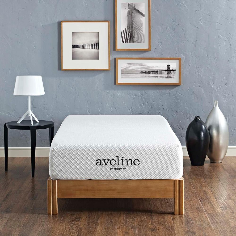 Aveline 10 in. Twin Mattress in White