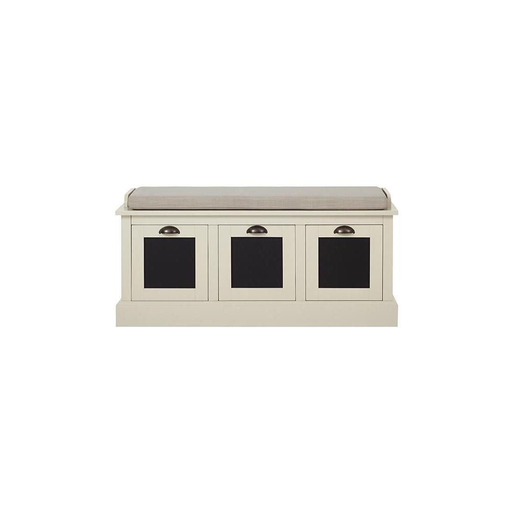 Shelton Storage Polar White Bench
