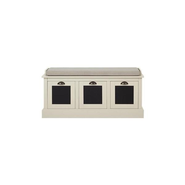 Home Decorators Collection Shelton Storage Polar White Bench SK19079AR2-PW