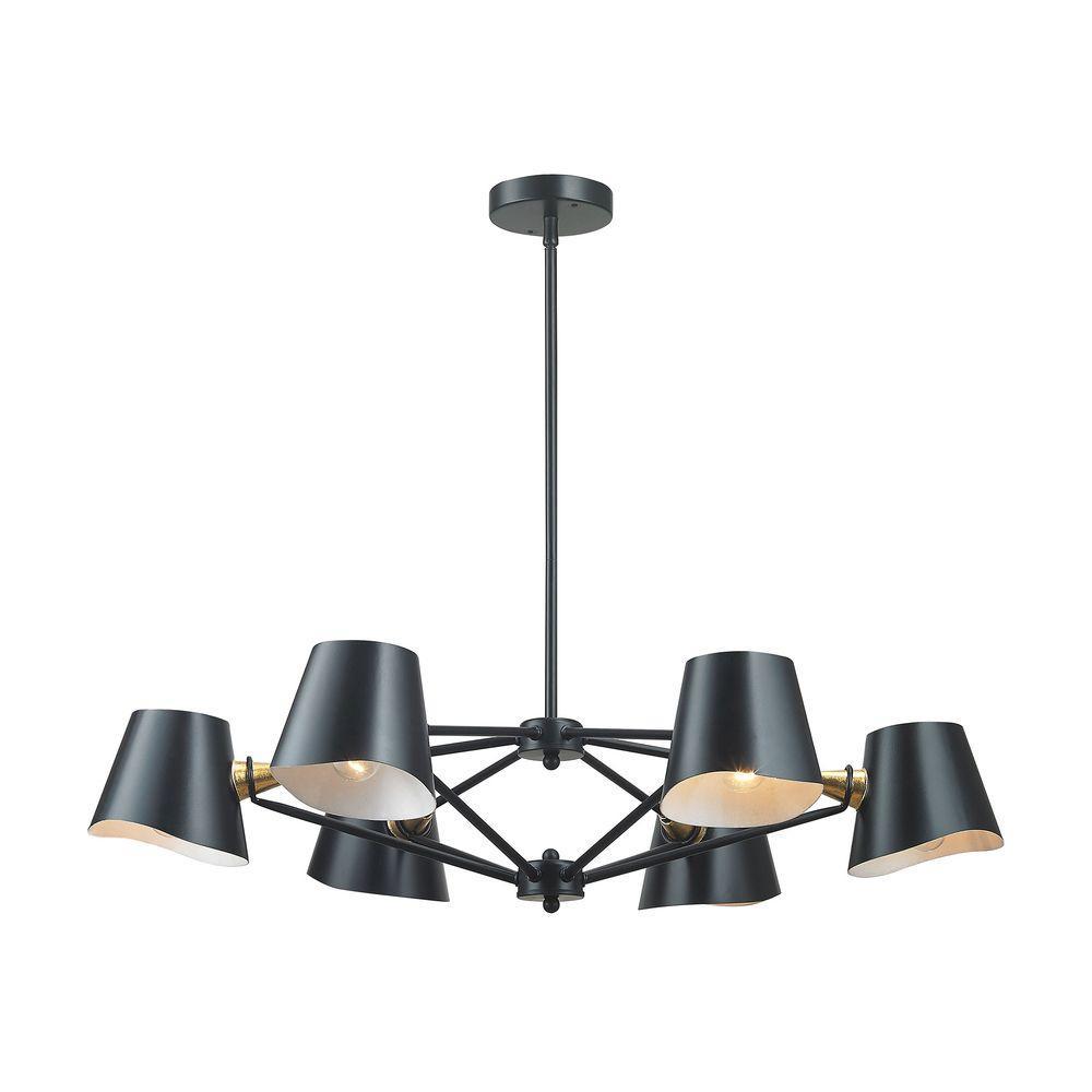 Titan lighting webre 6 light matte black chandelier tn 999721 titan lighting webre 6 light matte black chandelier mozeypictures Image collections