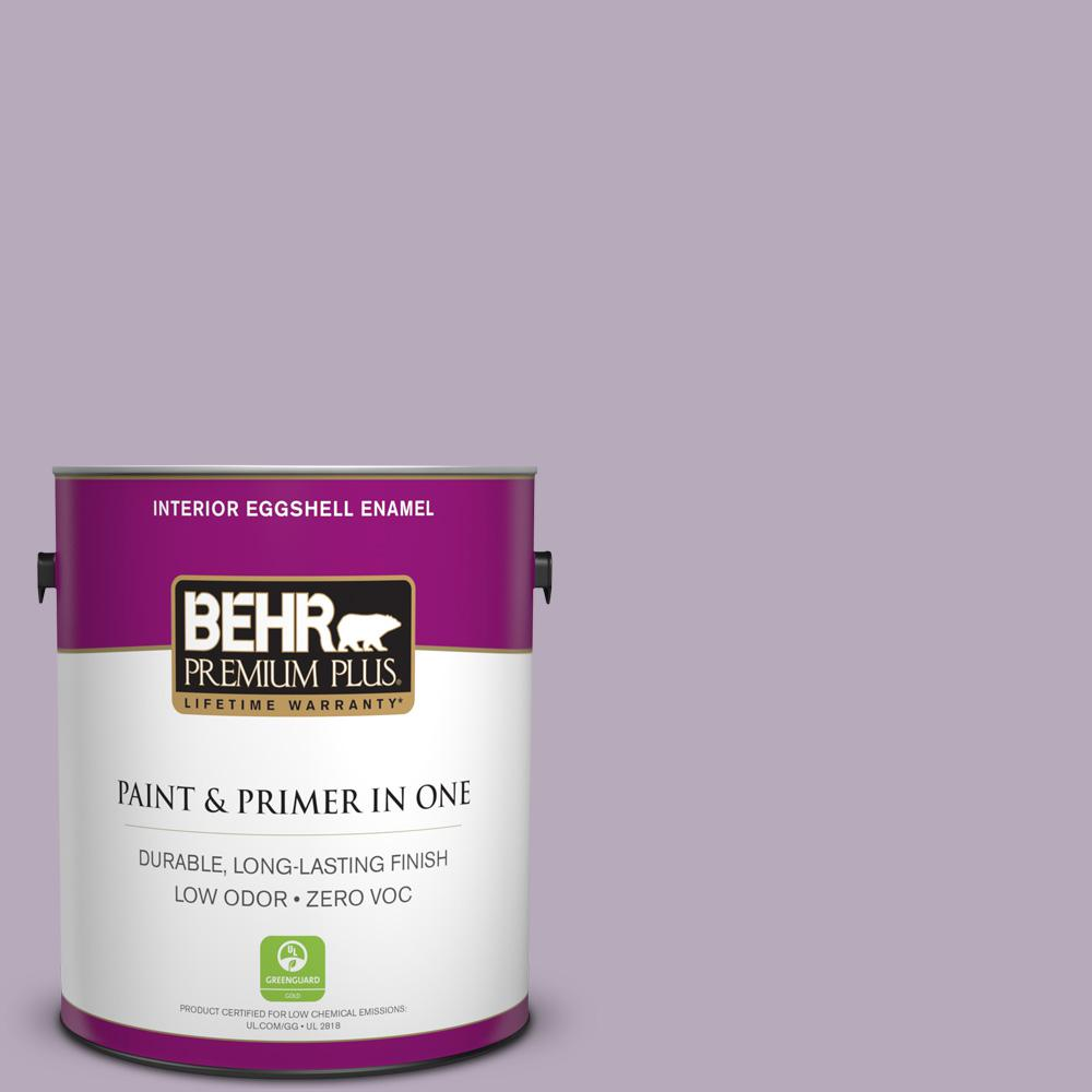 1-gal. #HDC-SP14-12 Exclusive Violet Zero VOC Eggshell Enamel Interior Paint