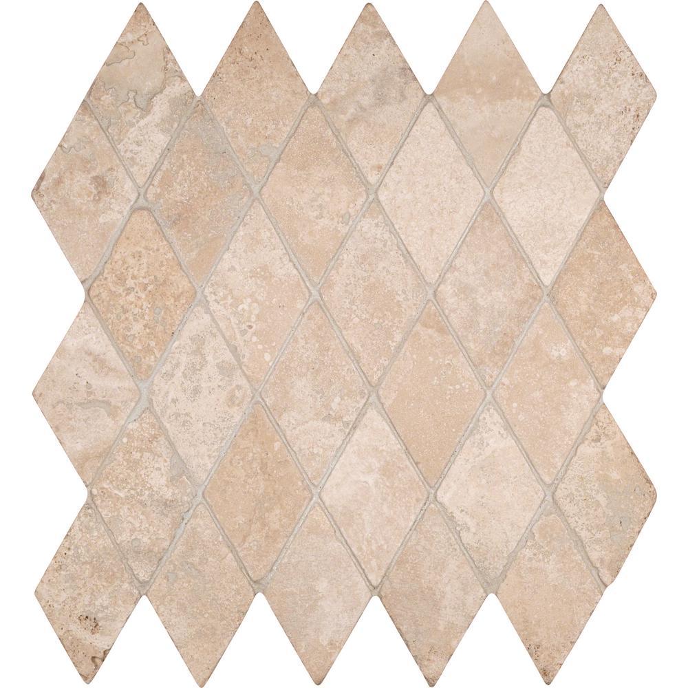 Msi durango rhomboids 12 in x 12 in x 10 mm tumbled travertine msi durango rhomboids 12 in x 12 in x 10 mm tumbled travertine mesh dailygadgetfo Choice Image