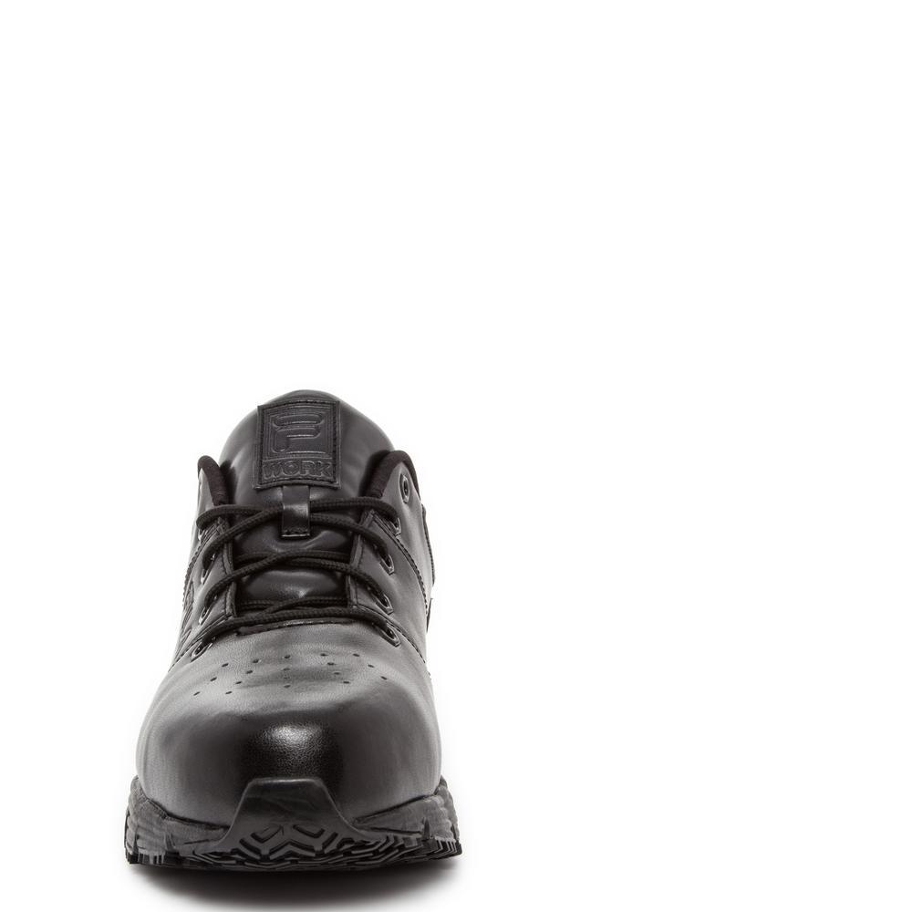 Fila Men's Memory Breach Slip Resistant Oxford Shoes Steel Toe BLACK Size 15(M)