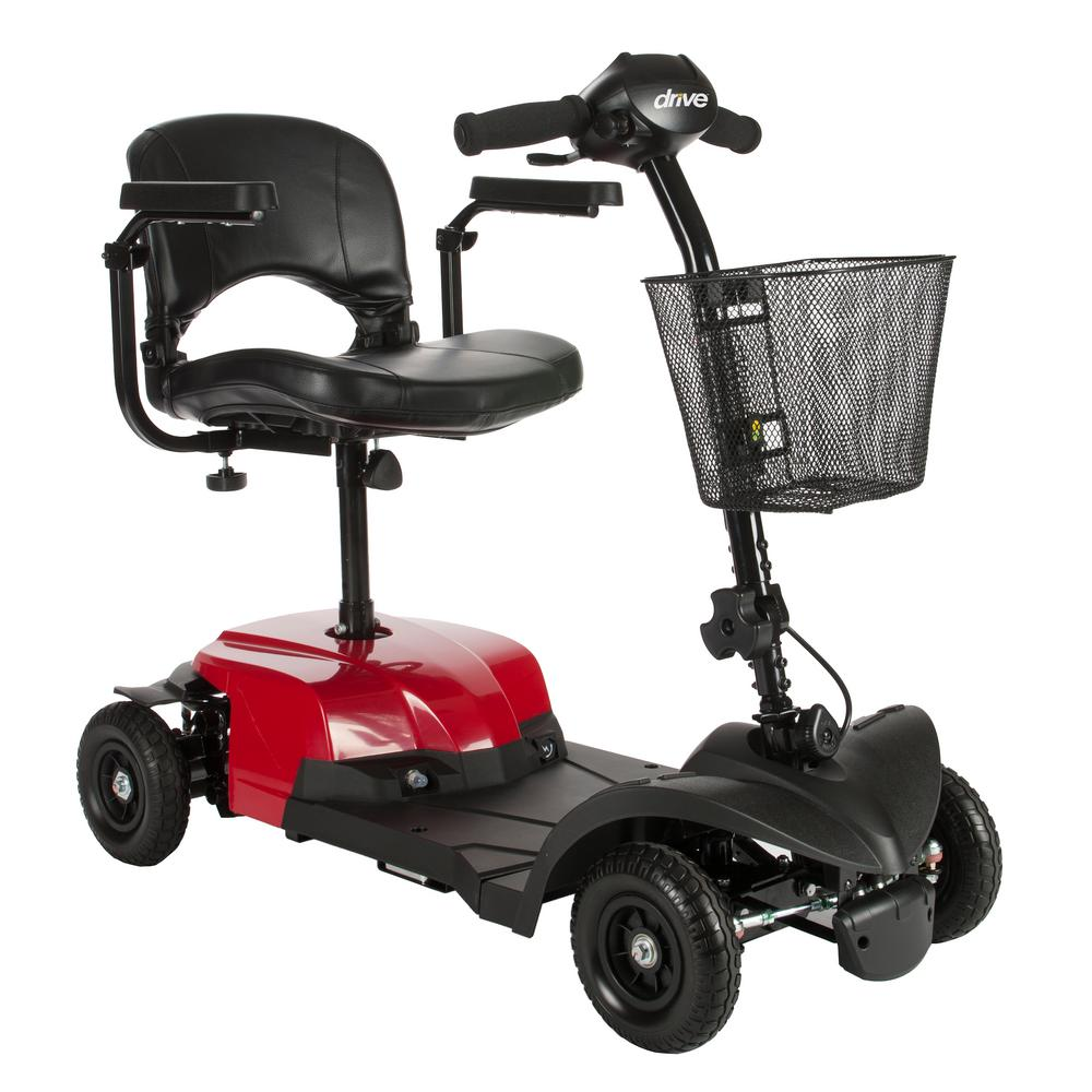 Medical Bobcat X4 Rear Wheel Drive 4-Wheel Scooter With Stadium Seat In Red