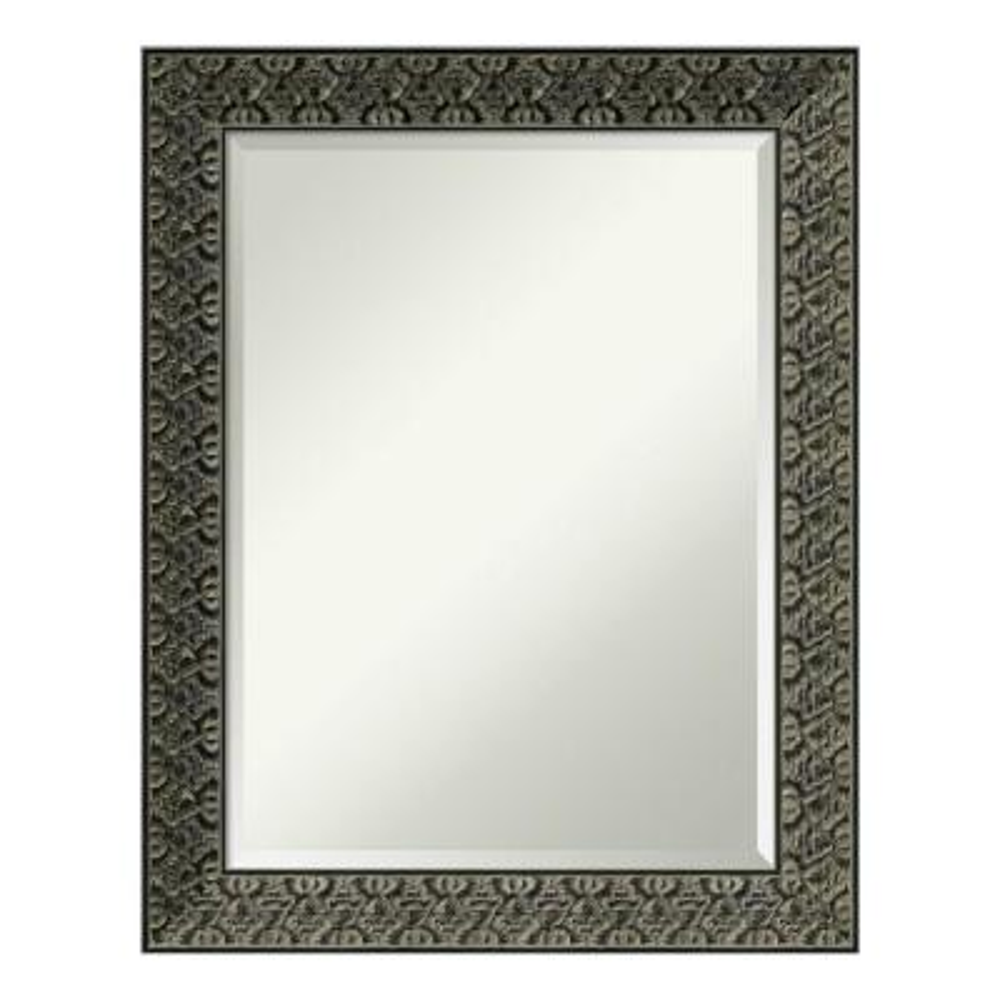 Amanti Art Medium Rectangle Black Beveled Glass Casual Mirror (28.75 in. H x 22.75 in. W)
