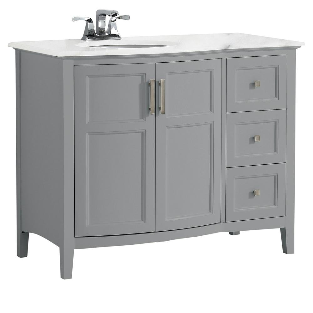 simpli home winston 42 in. rounded front bath vanity in