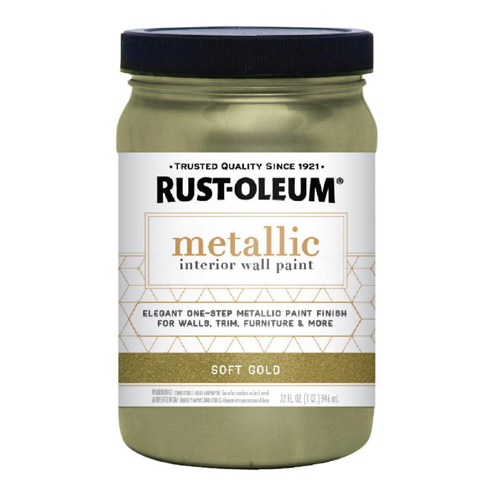 RustOleum Rust-Oleum 1 qt. Soft Gold Metallic Interior Paint