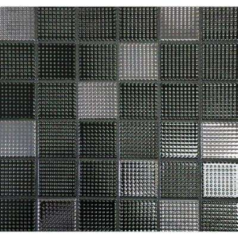 Keijo Daku Black 11.56 in. x 11.56 in. x 6.35mm Glazed Porcelain Mosaic Tile (9.28 sq. ft. / case)