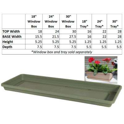 Terra 30 in. Living Green Plastic Window Box Saucer