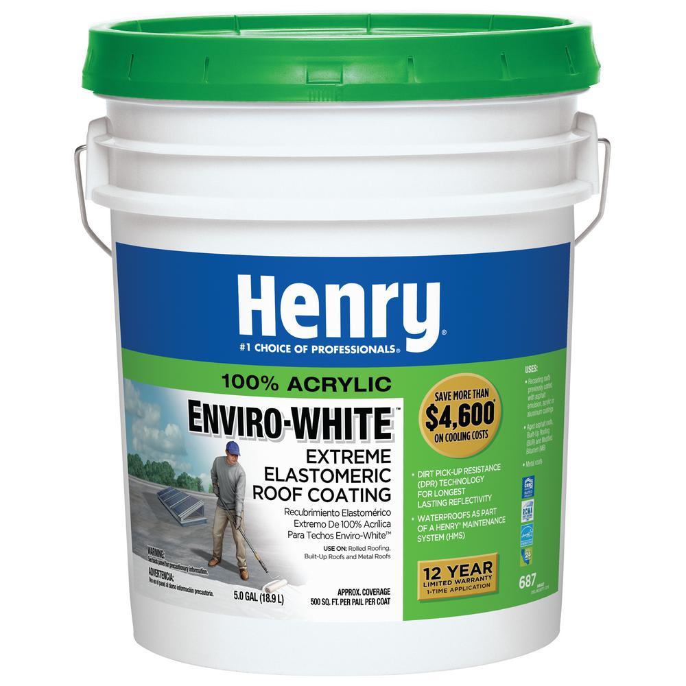 4.75 Gal. 687 100% Acrylic Enviro-White Extreme Elastomeric Roof Coating